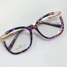 8c9698dad Oculos Feminino Sem Grau Quadrado Roxo - Óculos no Mercado Livre Brasil