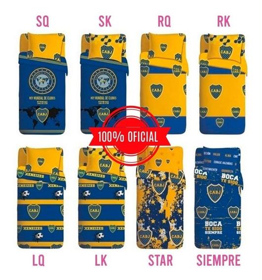 Juego Sabanas Boca Juniors Oficial 1 1/2 Plaza Lk Ct Mmk