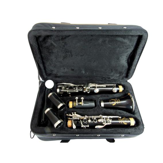 Kit Clarinete Profissional Sib 17 Chaves Cl04n Eagle Estojo