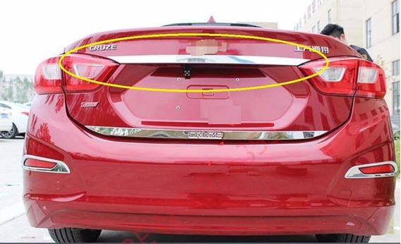 Chevrolet Cruze Sedan Friso Porta Mala Cromado Moldura Trase