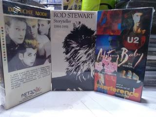 Colección Vhs Depeche Mode-rod Stewart-u2