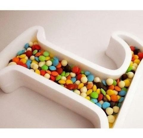 Letras/numeros/en Polifan Huecas Para Candy Bar