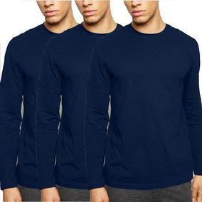9ab33adc09 Blusa Frio - Camisetas Azul-marinho com o Melhores Preços no Mercado ...