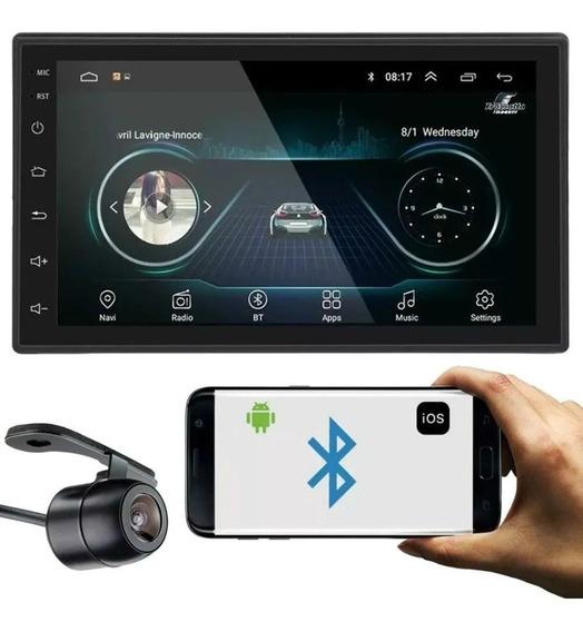 Kit Multimídia 2 Din Mp5 Android 8.1 16gb/gps + Camera Ré