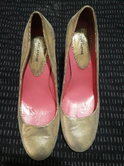Zapatos Sofi Martire Talle 37 1 Postura Impecables Dorados