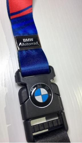 Bmw Motorrad Motorsport Chaveiro Cordão Id Original Azul