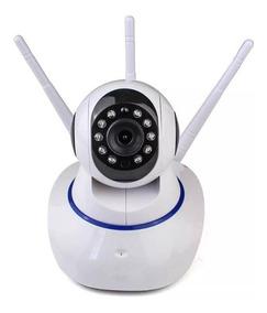 Ip Camera Wifi Com 3 Antenas Onvif Hd P2p 360