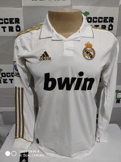 Camisa Real Madrid 2011-12 Ronaldo 7 Manga Longa