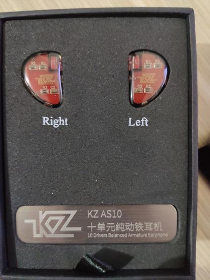 Kz As10 Com Mic, Cabo Bluetooth E Case Fone Intra-auricular