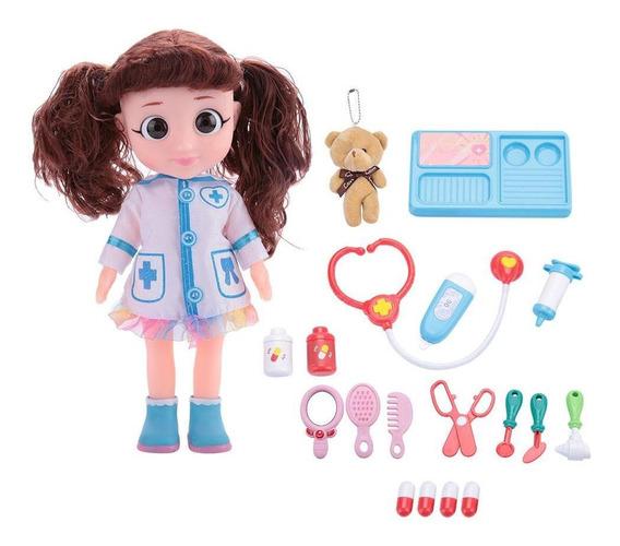Electric Doctor Doll Medical Kit Juego De Rol Juguete (mesa