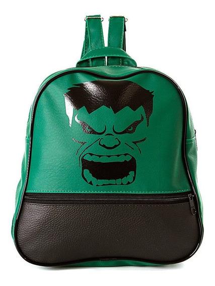Mochila Infantil Hulk De Costas Pequena Escolar