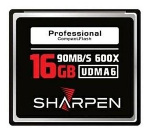 Cartão Compact Flash 16gb Sharpen 90mb/s (600x), Udma6