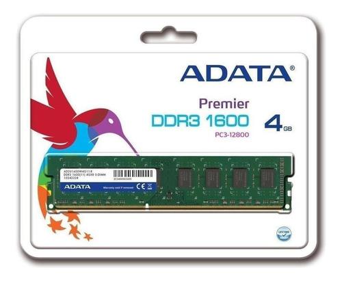 Memória RAM Premier Series  4GB 1x4GB Adata AD3U1600W4G11-S