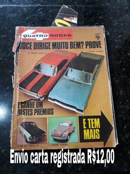 Revista Quatro Rodas 135 Outubro 1971 Opala Dodge Fusca