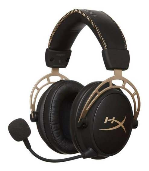 Fone de ouvido gamer HyperX Cloud Alpha gold edition