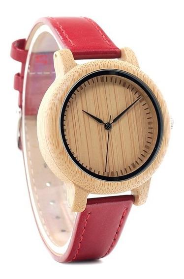 Relógios De Madeira Feminino - Bobo Bird Wj09 Oficial
