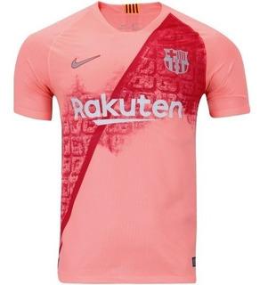 Camiseta Barcelona Rosa 2019 Nova Original - Camisa Oficial