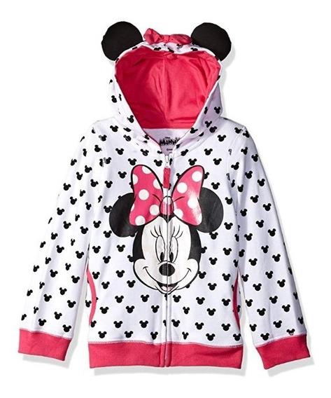 Sudadera Minnie Mouse Con Orejas Niña Original Disney
