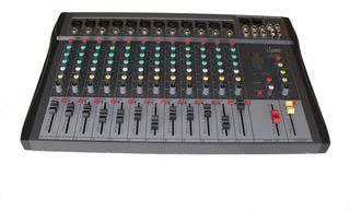 Mixer Dj Consola De Audio Efectos 12 Canales E-sound Fx1230
