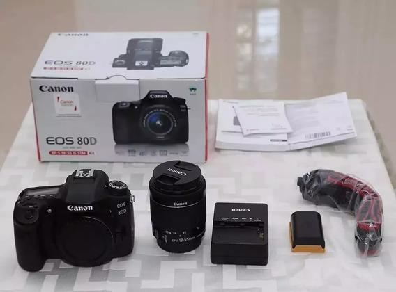 Kit Canon 80d + Lente 18-55 Stm + Grip E 2 Baterias
