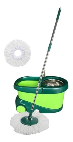 Nueva Cubeta Magic Bucket Verde Con 2 Mops Blancos