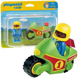 Playmobil 123 Intek Moto De Carreras Con Figura 6719