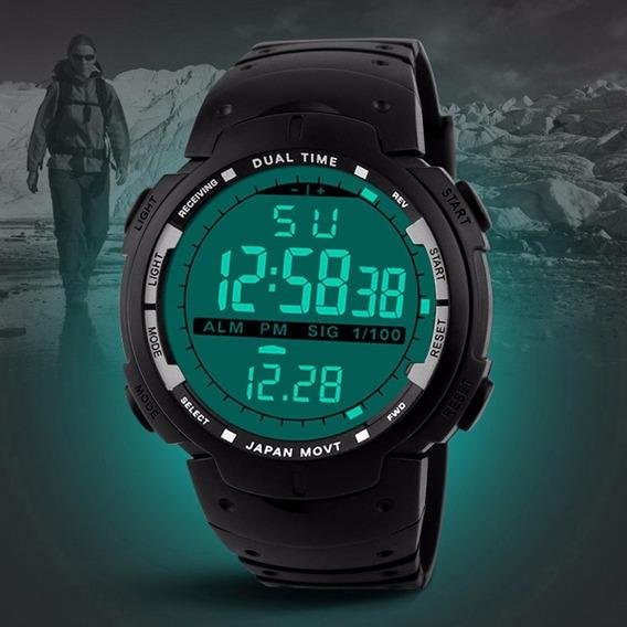 Relógio De Pulso Masculino Esportivo Preto Homem Digital