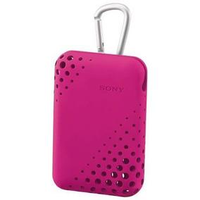 Capa Silicone Câmera Cyber-shot - Original Sony - Pink