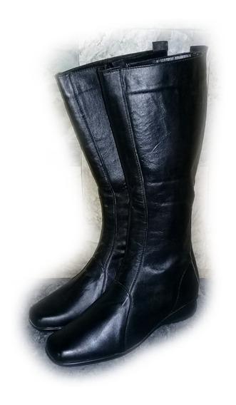 Botas De Dama Cuero Caña Larga #37