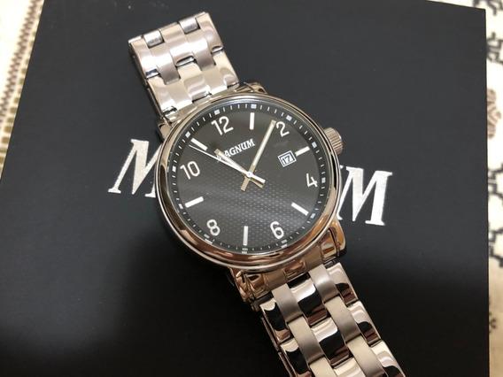 Relógio Magnum + Pulseira Novos Na Caixa