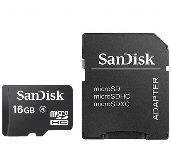 Cartão De Memória Micro Sd 16 Gb Classe 4 Sandisk