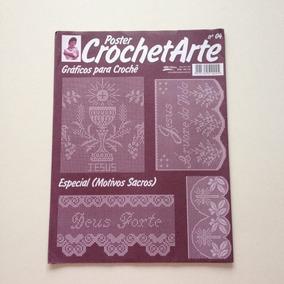 Poster Crohet Arte Gráficos Para Crochê Sacros N°04