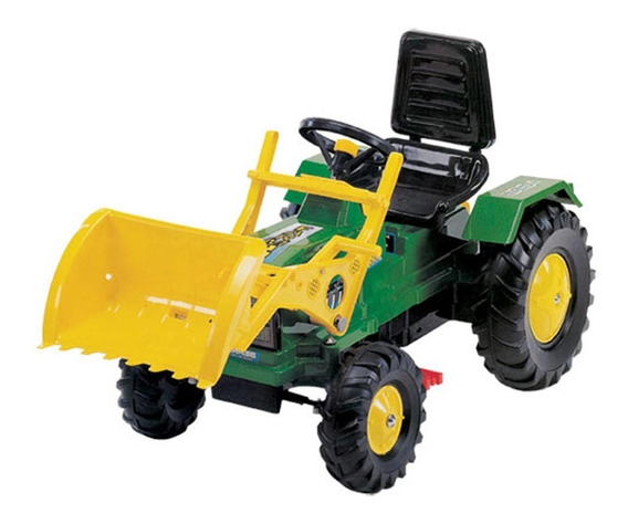 Tractor A Pedal Con Cadena Farmer Verde Con Pala Biemme