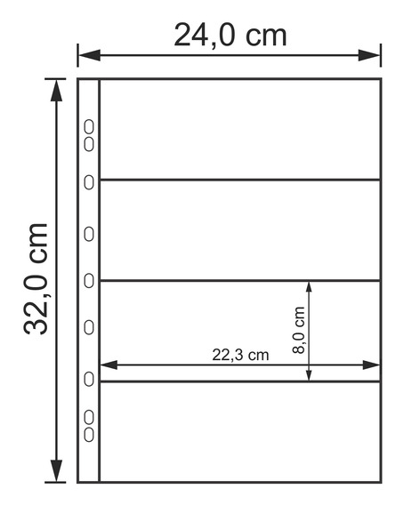 Kit 10 Folhas Para 4 Cédulas Acetato 32x24