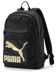 Mochila Puma Originals Unissex - Preto/dourado
