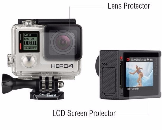 Película P Tela E Lente Gopro Hero4 Silver Lcd Go Pro E Case