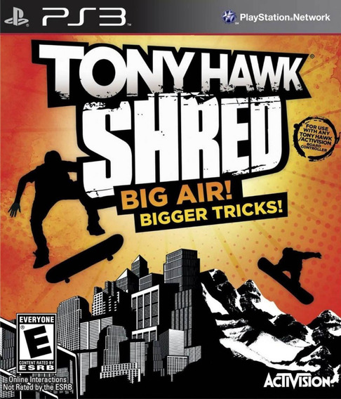Jogo Tony Hawk Shred Big Air Ps3 Mídia Física Sem Board Game