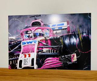 Cuadro Checo Perez Force India F1 Team 40x60