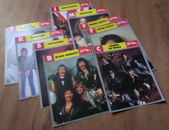 Kit 9 Fichas Músicos Revista Bizz Rock Iron Maiden Metallica