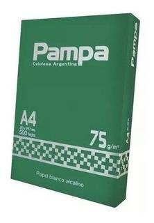 Papel Resma A4 75 Grs Pampa 500 Hojas Blancas