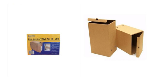 Caja De Archivo Inactivo Norma 12-x200 Carton * 12 Unidades