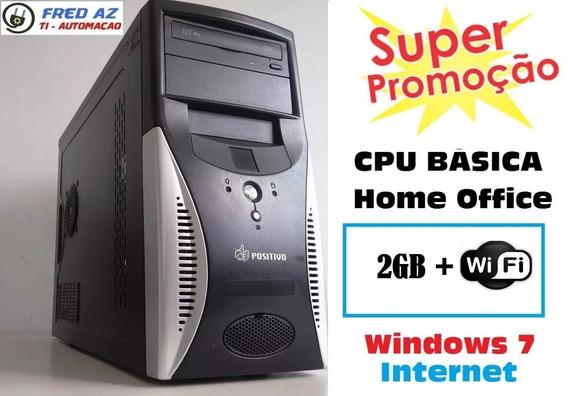 Cpu Desktop 2gb + Wifi P/ Trabalho Estudo Basico Home Office