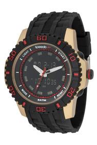 Relógio Masculino Speedo Anadigi 81155g0evnp1 Visor Preto