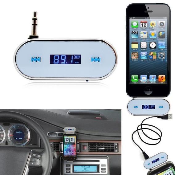 3.5mm Carro Branco Sem Fio Transmissor Fm Para iPhone 5s 5c