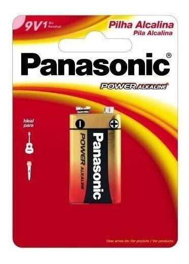 Bateria 9v Alcalina Power 6lf22xab Panasonic Com 50 Pç