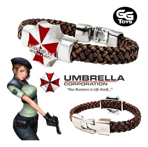 Pulsera Umbrella De Resident Evil / Zinc Y Cuero 100% Nueva