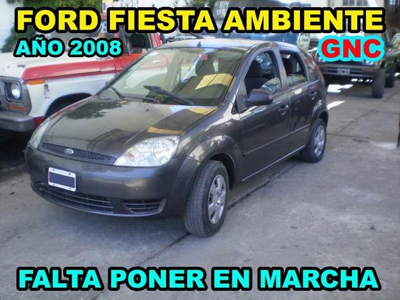 Ford Fiesta Ambiente Año 2008 Con Gnc