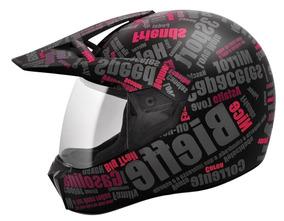 Capacete Feminino Sport 3 Mirror Preto/rosa