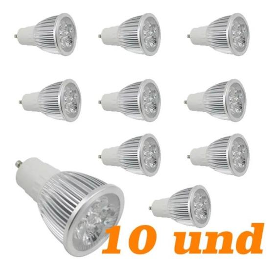 Lampada Dicroica Leds Branco Frio 5w Gu10 Bivolt 10 Unidades