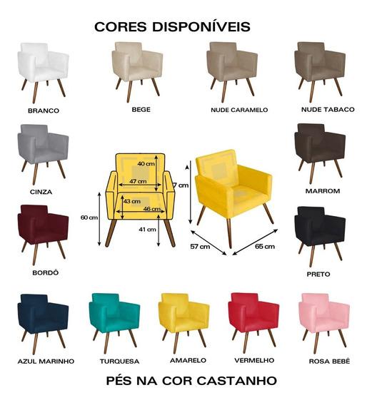 Kit 2 Poltronas Decorativa Nina Mobili- Super Oferta